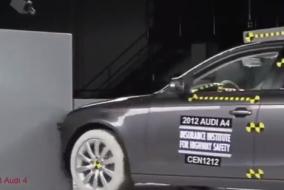 2012 Audi A4 - BMW 3 serisi ve Mazda 6 IIHS test