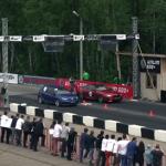 VW Golf R, BMW M6, Lamborghini Gallardo LP560,Mercedes CLS 63 AMG ile kalkış yarışı yapıyor